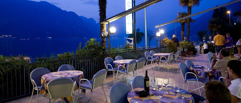 Hotel Astoria, Malcesine, Lake Garda, Italy - Terrace at night.jpg